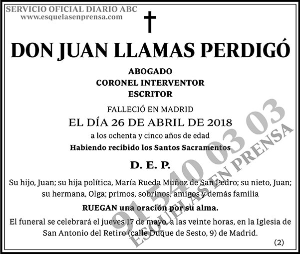 Juan Llamas Perdigó